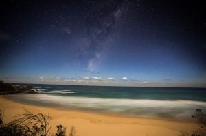 Waves on the moonlit beach, Mimosa Rocks