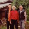 Oliver (16), Su and David at Melliodora November, 2002. Photo: Christian Wild